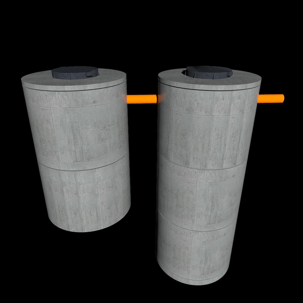 Переливной септик из бетонных колец для 3 человек