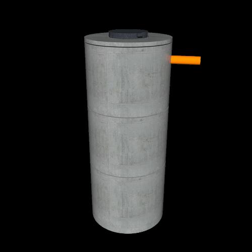 Выгребной септик из бетонных колец для 2 человек