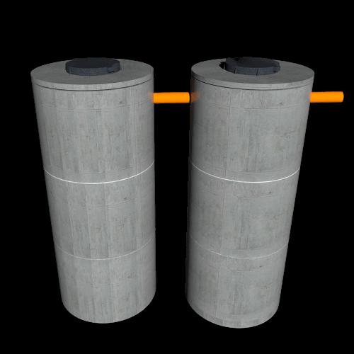 Переливной септик из бетонных колец для 4 человек